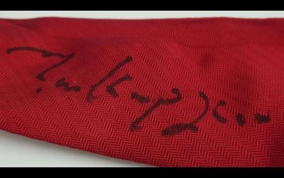 Autographed tie